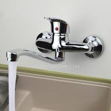 wall mount kitchen faucet single handle two holes wall mounted kitchen faucet