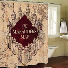 Shower Curtain Map The Marauders Map Shower Curtain From Leatricecurtain On Etsy