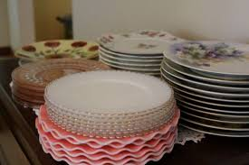 bridal shower plate bridal shower details antique plates and place cards live pretty
