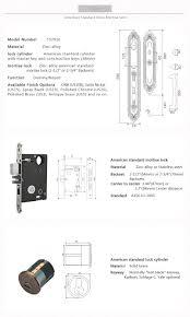 Mortise Locksets Zamak American Standard Long Mortise Lock With Long And Short