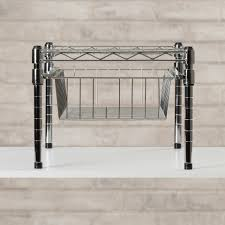 Under Cabinet Shelving by Honey Can Do Under Cabinet Shelving Rack Reviews Wayfair