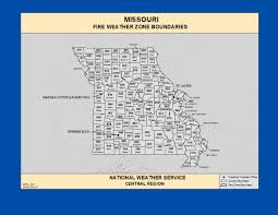 Missouri Wildfire Map by Maps Missouri Fire Weather Zone Boundaries