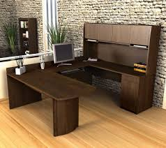u shaped office desk with hutch bestar executive u shaped desk