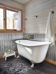 Wainscoting Bathroom Vanity Tin Wainscoting Bathroom Farmhouse With Galvanized Aluminum