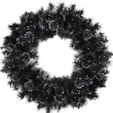 christmas garland battery operated led lights 36 inch battery operated black bristle artificial christmas wreath