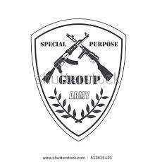 gun store shooting club army badge stock vector 476759485