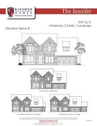 3 car garage dimensions the jennifer home plan by kinsmen homes in diamond d ranch