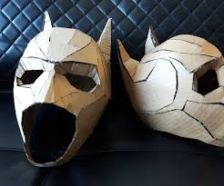 design your own halloween mask online cardboard batman cowl 9 steps with pictures