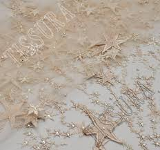 star applique embroidered tulle fabric exclusive fabrics from
