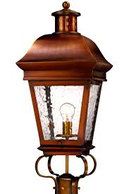 american legacy post mount colonial copper lantern light