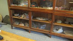 antique display cabinets with glass doors furniture large antique display cabinet w sliding glass doors 105