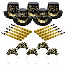 new years kits black gold new year s party kit for 10 party kits for