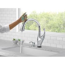 moen touch kitchen faucet kitchen delta addison touchless single handle standard kitchen