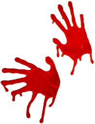 Halloween Ornaments Uk Bloody Halloween Decorations Bloody Handprint Bloody Bones