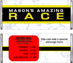 Invitation Card Standard Size Amazing Race Party Supplies And Invitations