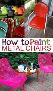Outdoor Metal Furniture by How To Paint Metal Chairs Painting Metal Chairs Painted Metal
