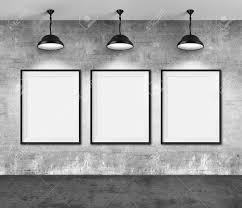 blank gallery wall art gallery blank picture frames on grunge wall background stock