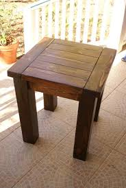 How To Build Wood End Tables by Ana White Tryde End Table With Shelf Updated Pocket Hole Plans