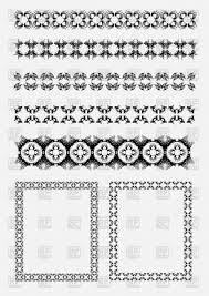 collection of ornamental rule lines and two empty decorative