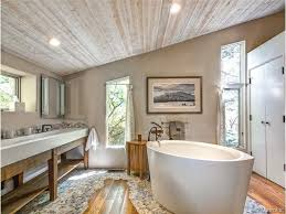 Bathroom Bay Window Eclectic Master Bathroom With Stone Tile U0026 Master Bathroom In