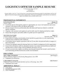 Logistics Resume Summary Resume Writing For Logistics 28 Images Career Logistics Resume