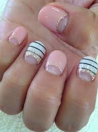 half moon glitter nails designs for wedding 2016 wedding
