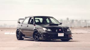 subaru wrx all black subaru wrx tuning con wallpaper impreza sti black car side hd