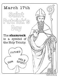 coloring attractive st patrick coloring saint 2 st