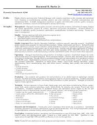 Resume Sample Quality Assurance by Resume Objective Examples Quality Assurance