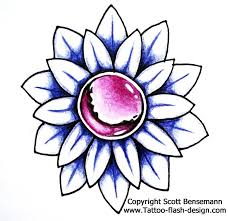 free flower tattoos for women pink blue and orange designs