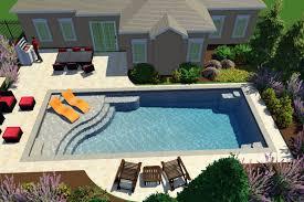 who makes the best fiberglass pool aquaserv pool spa inc rectangle pool with spa interior design