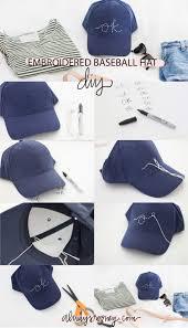 embroidered baseball hat baseball hats craft and diys