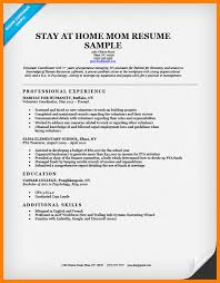 stay at home resume examples amitdhull co