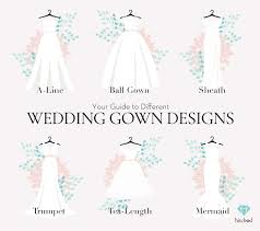 different wedding dress shapes what are the different styles of wedding gowns you can choose from