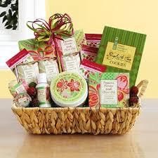 olive gift basket olive and flower spa gift basket at gift baskets etc