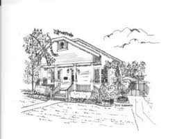 architectural mini prints pen and ink drawings reproduction
