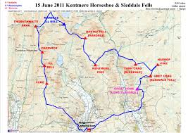 Map Walking Distance Peak Bagging And Long Distance Walking In The Uk Kentmere