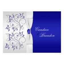 Royal Blue Wedding Invitations Royal Blue And Silver Invitations U0026 Announcements Zazzle