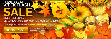 thanksgiving week flash sale 100 reload match bonus pala casino