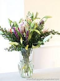 Arranging Roses In Vase How To Arrange Grocery Store Flowers The Happier Homemaker