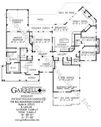 large ranch floor plans big mountain lodge a house plan house plans by garrell