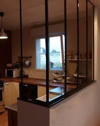separation de cuisine en verre séparation de cuisine salle à manger creation artisanale