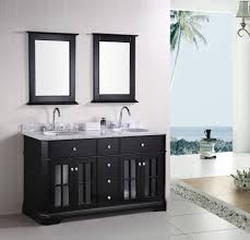 Carved Dark Brown Hardwood Double Sink Vanity With  Drawers And - Bathroom vanities double sink 2
