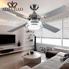 ceiling fan with bright light modern silver color ceiling fans industrial bright ceiling fan light