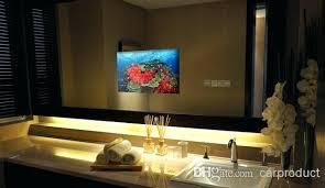 tv in a mirror bathroom tv mirror bathroom bathroom mirror ideas