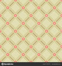 seamless floral geometric pattern vector with coral pink flowers