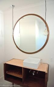 bathroom mirror ideas tags circle wood mirror bathroom cabinet