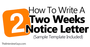 how to write a two weeks notice letter sample template included