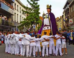 processional giants and dragons in belgium and intangible