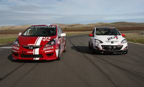 mazda car and driver the 25 hours of thunderhill in a b spec mazda 2 and honda fit